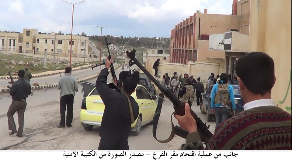 جانب من عملية اقتحام مقر الفرع – مصدر الصورة من الكتيبة الأمنية