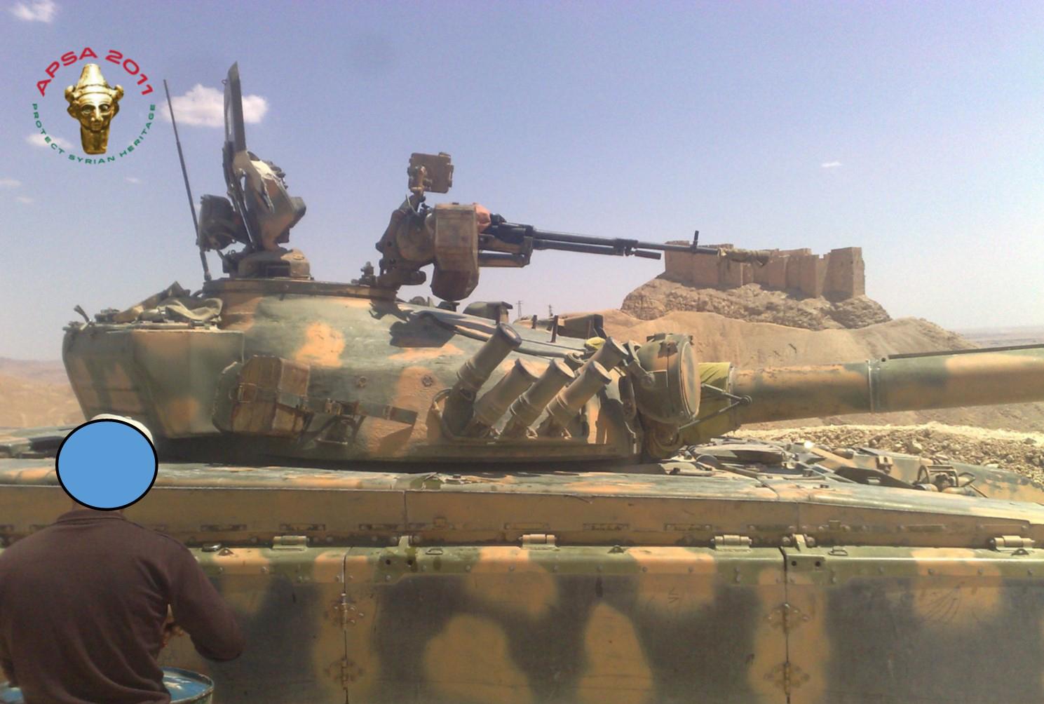 تدمر – الدبابات في الحرم الأثري
