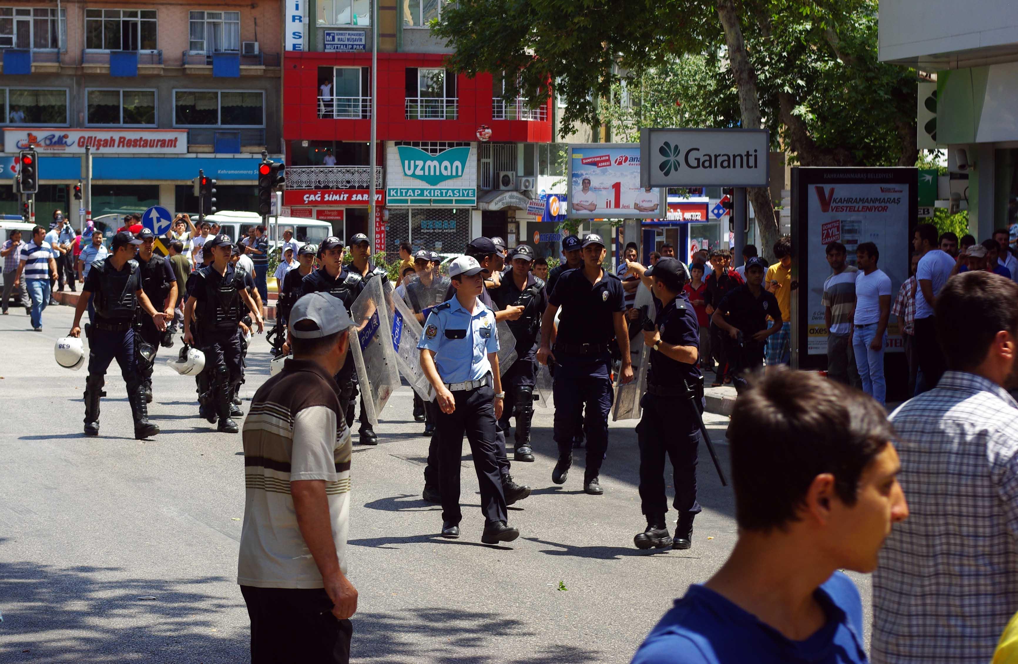 Kahramanmaras'ta Suriyeliler protesto edildi