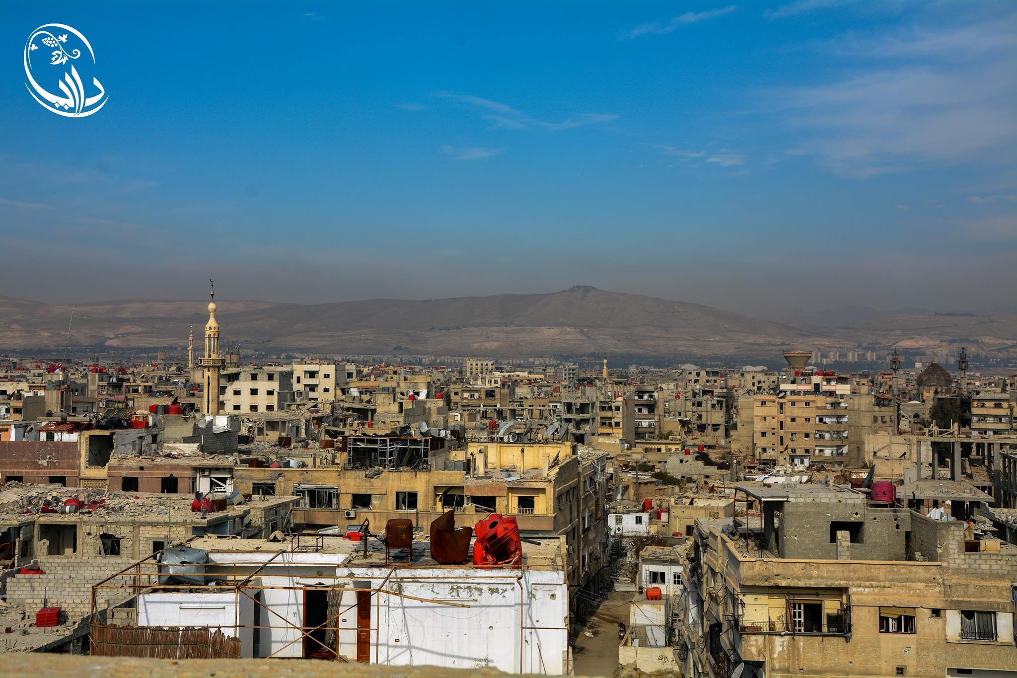 مشهد عام لمدينة داريا