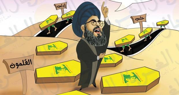 كريكاتير: حسن نصرالله بالقلمون