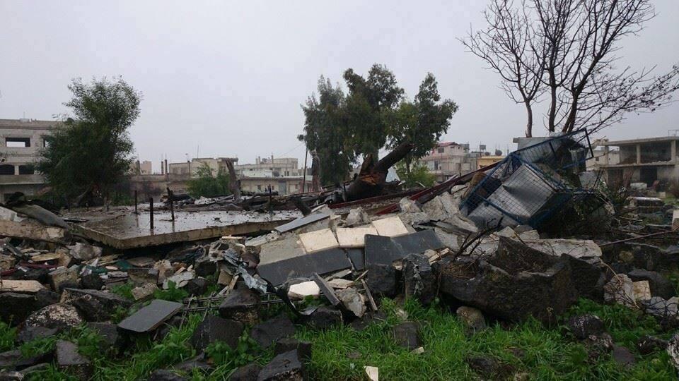 مقام الامام النووي في نوى من قبل النصرة