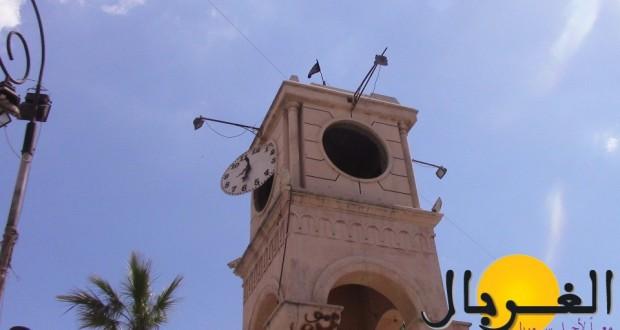 ساعة إدلب مدمرة