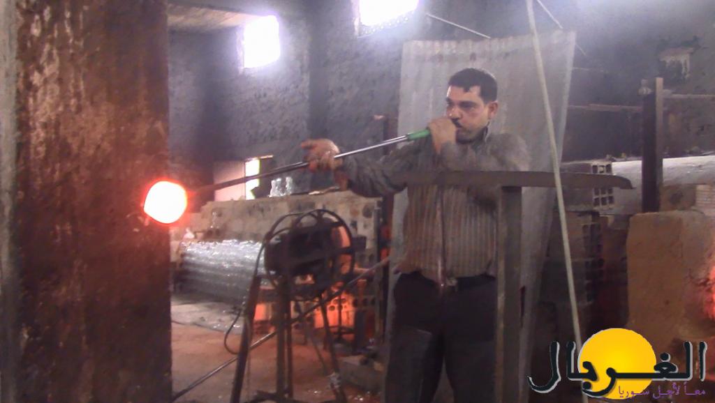 صناعة زجاج سوريا يدوي ازمناز