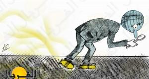 كريكاتير: بحث المجتمع الدولي عن السلاح الكيماوي في سوريا