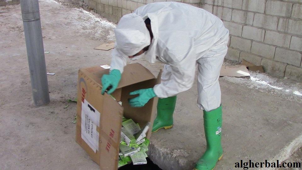 النفايات الطبية العادية لا تشكل أي خطورة على صحة السكان