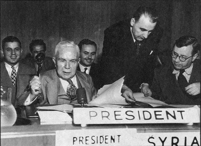فارس الخوري رئيسا لمجلس الأمن الدولي عام 1947