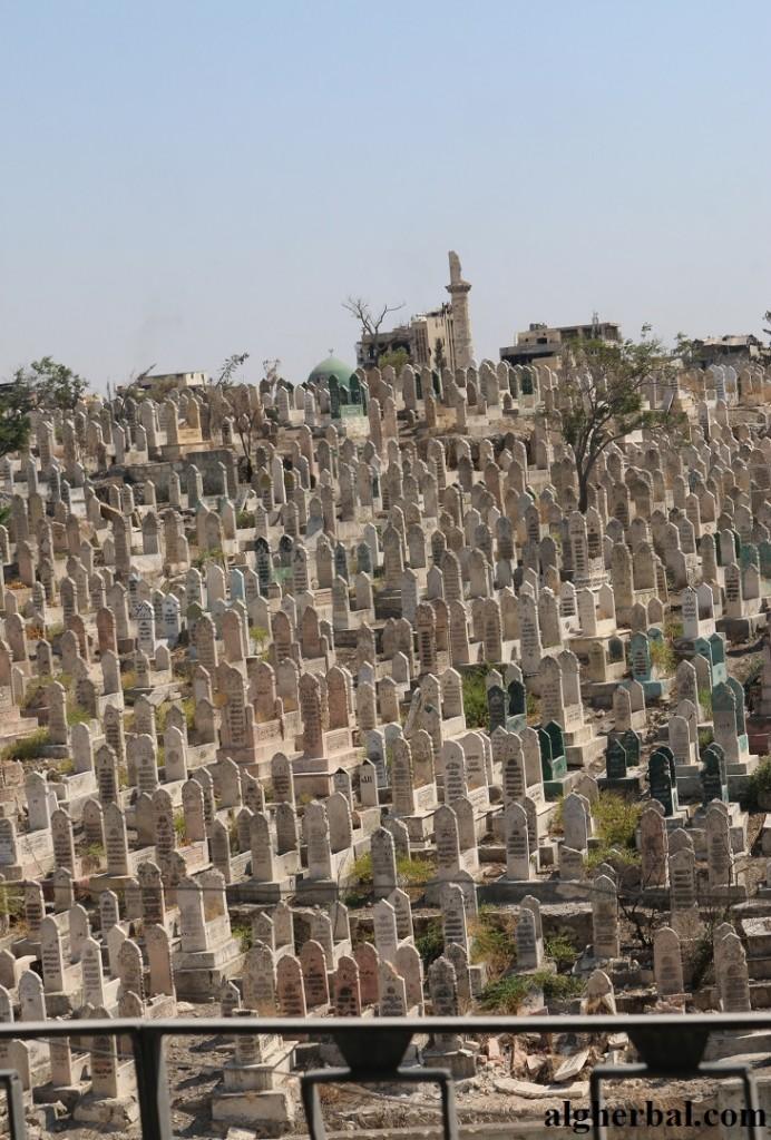 مقبرة ميسلون (جبل العظام) تكتظ بقبورها