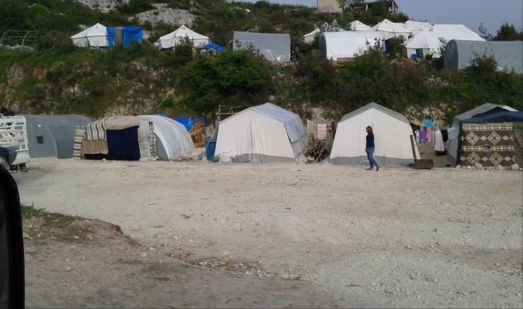 مخيم اللاجئين السوريين