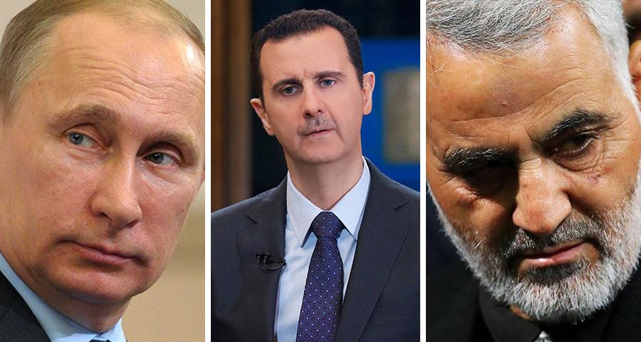الأسد بين إيران وروسيا
