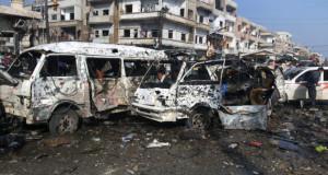 حصيلة تفجيرات حمص ودمشق وصلت إلى أكثر من 150 قتيلاً لتكون التفجيرات الأعنف منذ 2014