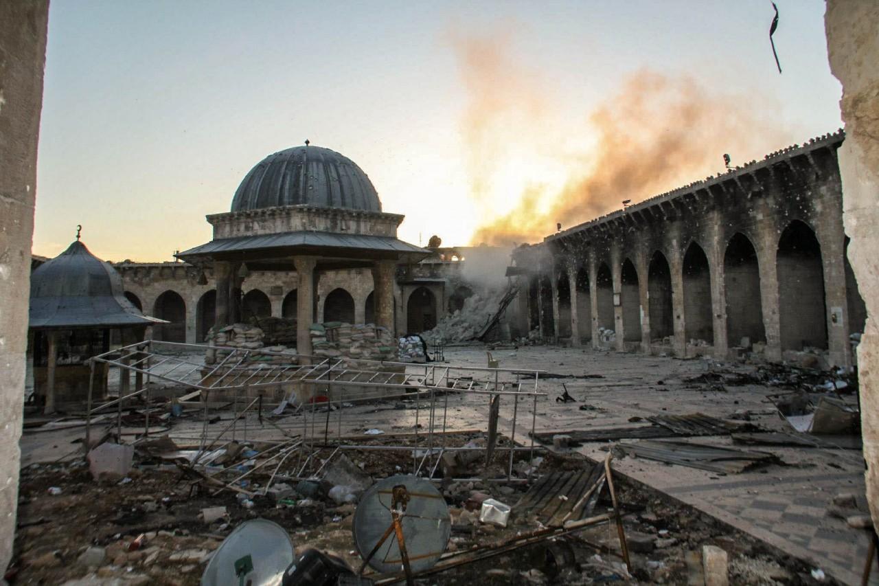 تعرّف على ما أصاب جامع حلب الكبير