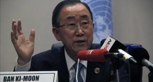 بان كي مون: عودة اللاجئين السوريين إلى بلدهم منوطة بتغيير جذري للظروف