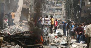 روسيا والنظام السوري وداعش يقتلون أكثر من 70 مدنياً بحلب