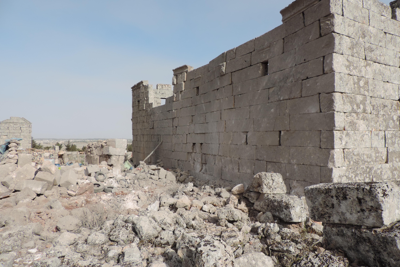 خربة-شنشراح-بعد-قصف-دمر-أحد-ابنيتها-خاص