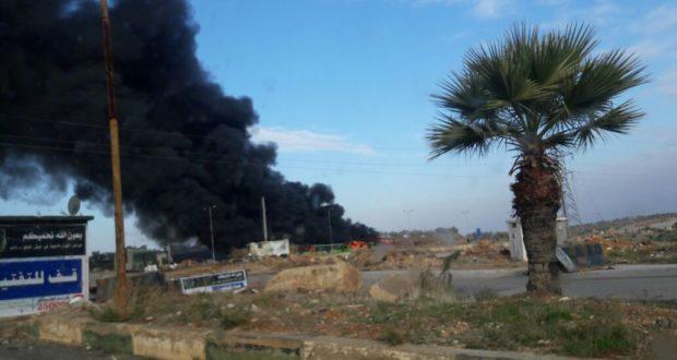 """بقايا تنظيم """"جند الأقصى"""" هي من أحرقت الحافلات بإدلب"""